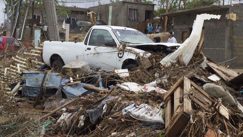 El paso de la tormenta causó enormes destrozos . Foto: AFP