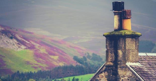La fachada de una casa tradicional en Scottish Borders