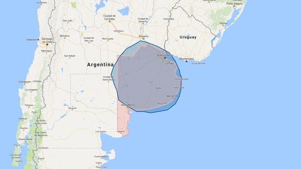 El huracán Irma es tan grande como la provincia de Buenos Aires