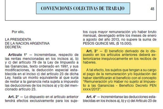 Decreto 1242/13