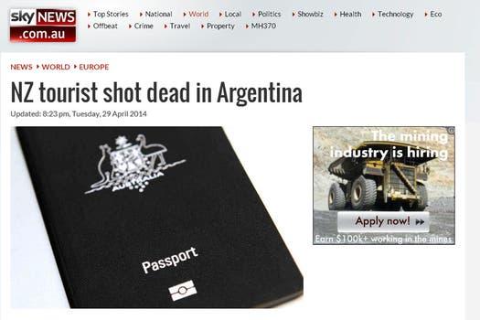 En Australia, Sky News se hizo eco de la noticia.