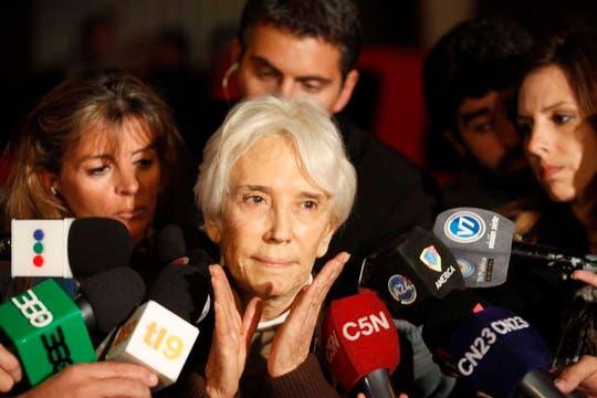 La abuela de Ángeles Rawson, María Inés, pidió que los padres cuiden a sus hijas. Foto: LA NACION