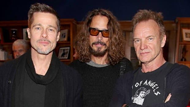 Brad y Chris, juntos en un concierto a beneficio el pasado enero