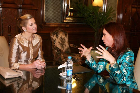 Cristina Kirchner recibió a Máxima Zorreguieta durante su presidencia también. Foto: Archivo
