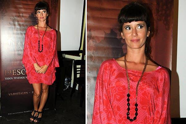 Griselda Siciliani eligió un vestido túnica en color madreselva para la presentación de Los Unicos en la Finca La Escondida. Foto: Gentileza JenkPress