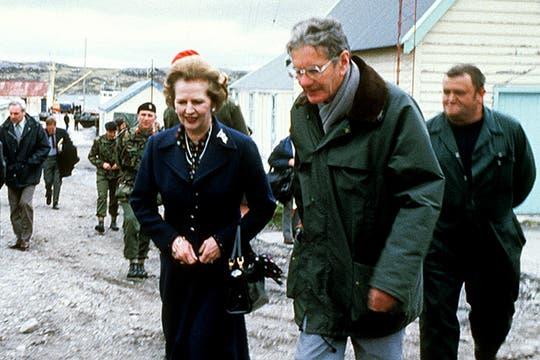 En enero de 1983 visitó las Islas Malvinas. Foto: Archivo
