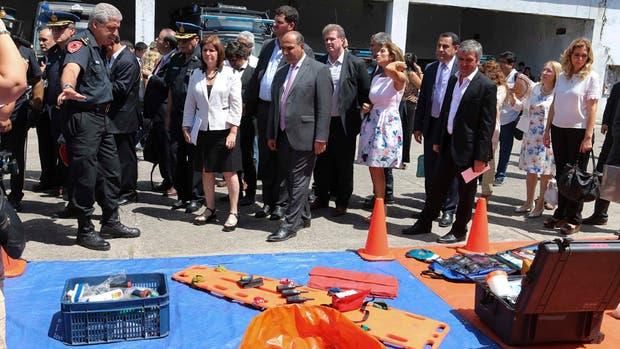 Autoridades nacionales y provinciales, ayer, durante la presentación de los recursos de la nueva agencia