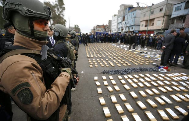 El día de los allanamientos, la Gendarmería secuestró 90 kilos de marihuana