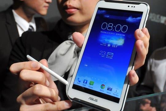 Asus FonePad Note, un teléfono con Android y pantalla de 6 pulgadas al estilo Galaxy Note y otros. Foto: AFP