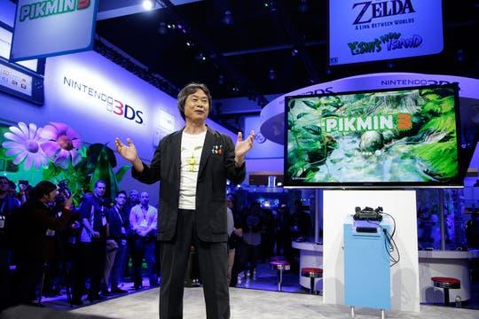 Shigeru Miyamoto de Nintendo, en la presentación del juego Pikmin 3.