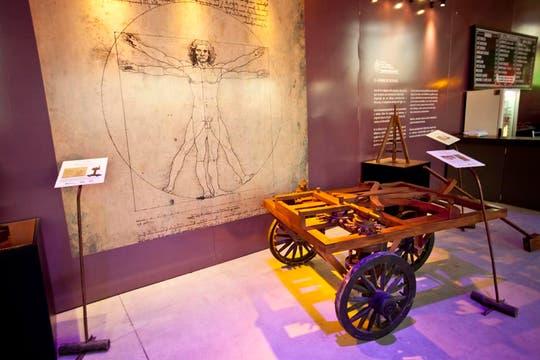 Los inventos de Leonardo Da Vinci a escala real, es algo difícil de olvidar. Foto: LA NACION / Matias Aimar