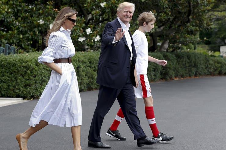 Melania, Donald y Barron