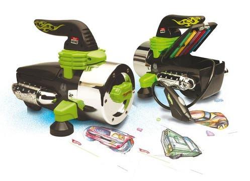 Aerógrafo de autos Hot Wheels. Se consigue a $160 en Coto, Falabella, jugueterías Dinosaurio, Jumbo y Carrefour. Foto: lanacion.com