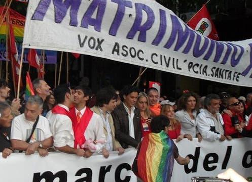 José María Di Bello y Alejandro Freyre lograron casarse en Ushuaia. Foto: Gentileza Alejandro Freyre