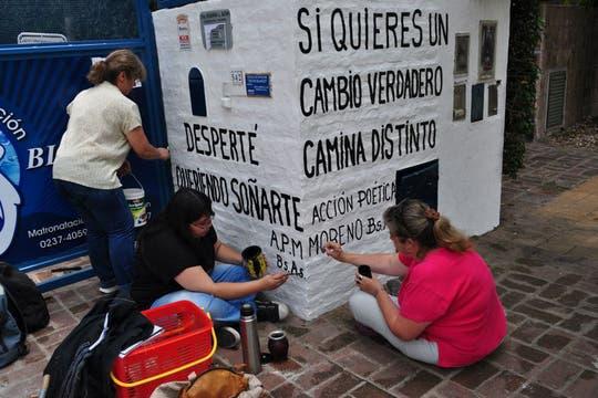 Acción Poética Moreno. Foto: Facebook