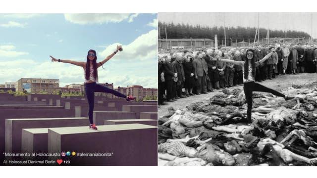 Edita las imágenes con otras del Holocausto