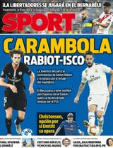 The Catalan newspaper Sport also emphasized superclassico in its cover