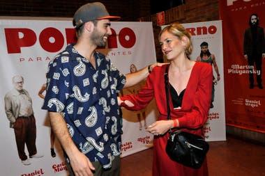 Rochi saludó a Nico Furtado -con quien trabajó en la novela Dulce amor- y lo felicitó por el inminente estreno