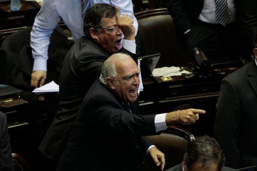 Escándalo en la Cámara de Diputados; gritos y forcejos en la votación en particular de la reforma del Consejo de la Magistratura. Foto: LA NACION / Aníbal Greco
