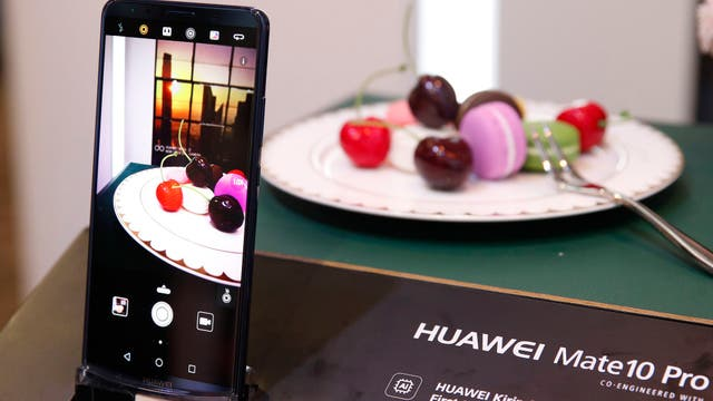 Un Huawei Mate 10 Pro para el mercado estadounidense en la CES 2018