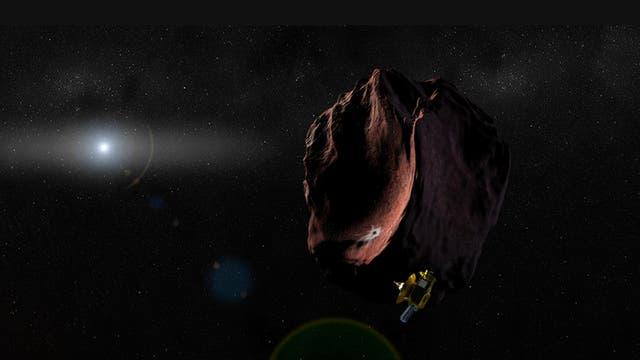 Ilustración de la NASA sobre la misión New Horizons