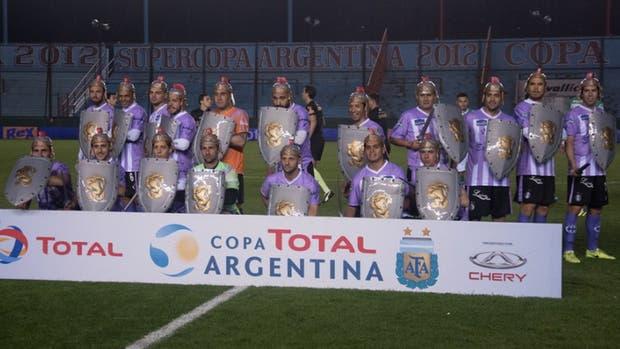 Así entraron a la cancha para el partido de Copa Argentina