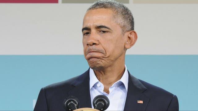 Obama, hoy durante una conferencia de prensa