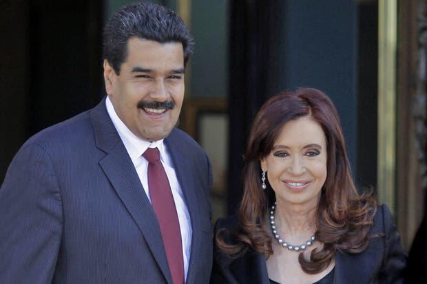 Nicolás Maduro junto a Cristina Kirchner