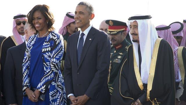 Michelle Obama, en Arabia Saudita, en 2015