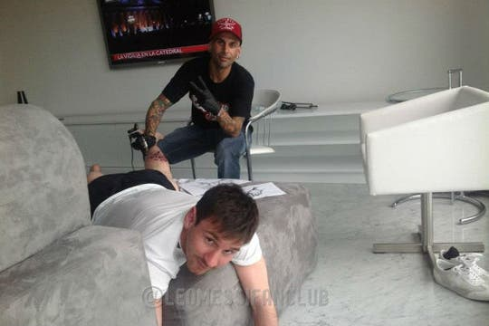 El tatuaje de Leo. Foto: @leomessifansclub