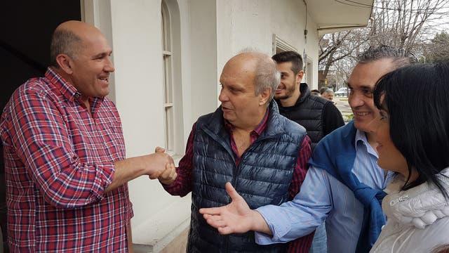 Lombardi charló con vecinos de Avellaneda