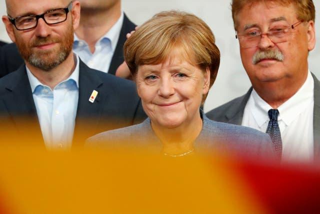 Merkel tras conocer que se impuso en las elecciones legislativas