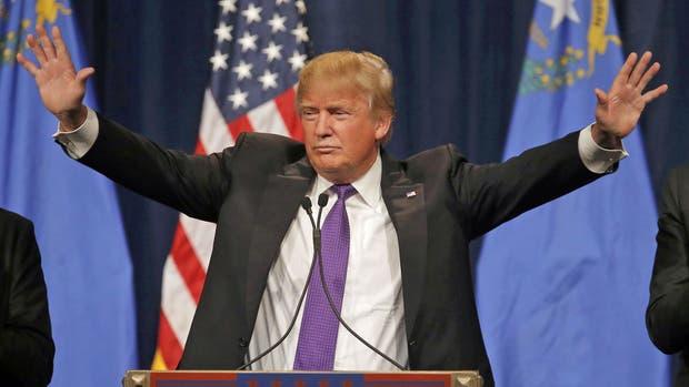 Trump, durante su discurso en Nevada