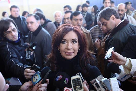 Cristina Kirchner votó en Santa Cruz. Foto: LA NACION / Maxie Amena