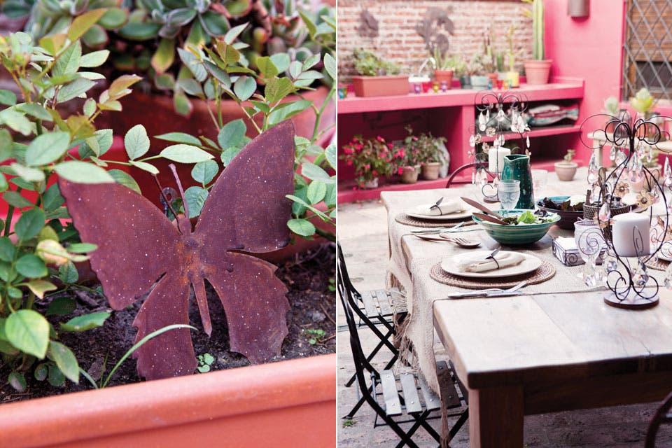 Ideas para decorar un patio   ana markarian   espacio living