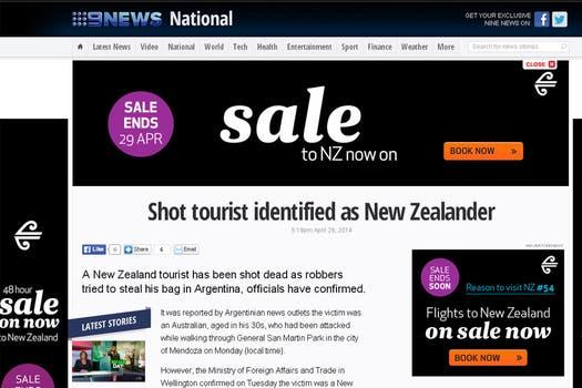 9 News, de Nueva Zelanda, contó la noticia.