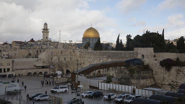Jerusalén, Israel, con la cúpula del Monte del Templo de fondo. El futuro estatus de Jerusalén es uno de los puntos de disputa centrales en el conflicto entre Israel y los palestinos