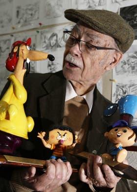 García Ferré, junto a sus queridas criaturas