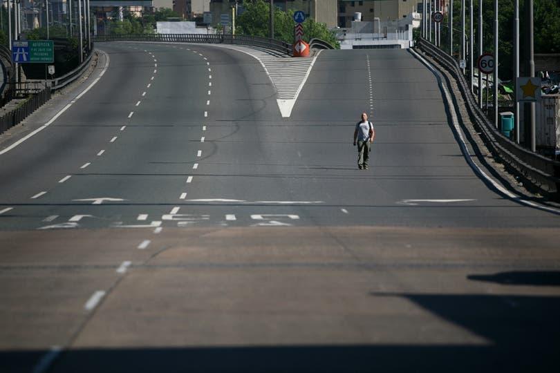 Corte en el Puente Pueyrredón. Foto: LA NACION / Silvana Colombo