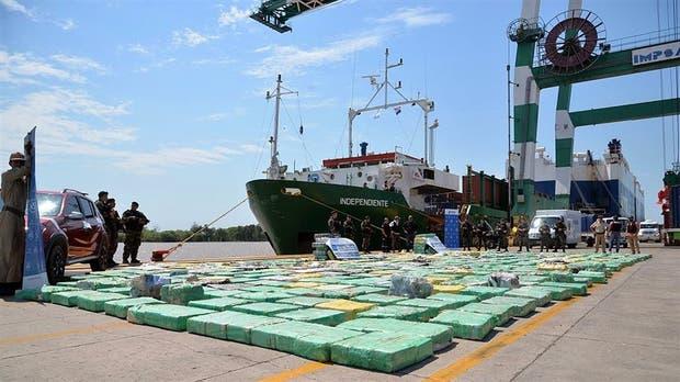 Utilizaron un barco de transporte para llevar diez toneladas de marihuana