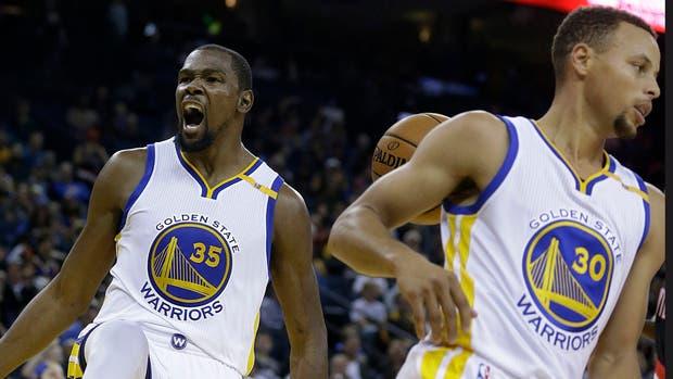 Kevin Durant y Stephen Curry, las estrellas de la NBA