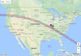 Un eclipse de costa a costa, el primero desde 1918.