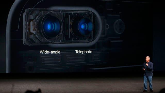 Las dos cámaras del iPhone 7 Plus