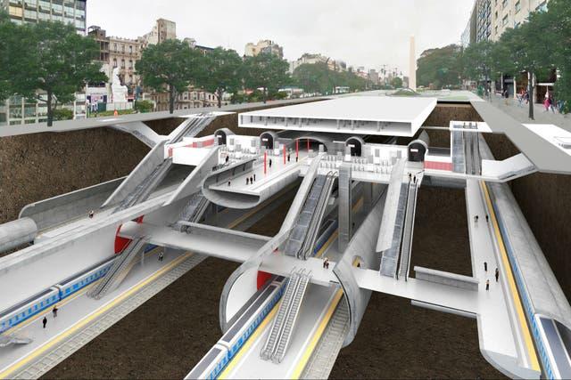 Cómo serán los accesos y túneles de la estación Central