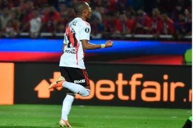 El desahogo de De la Cruz, tras anotar el gol de la clasificación para River