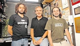 De izquierda a derecha: Manuel Muñoz, Alberto Kornblihtt e Ignacio Schor