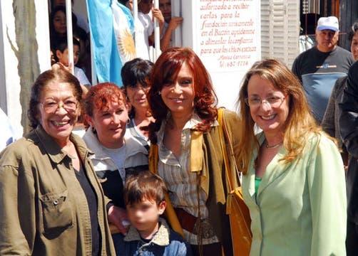 En 2007, durante la visita de la entonces candidata presidencial Cristina Kirchner. Foto: Archivo