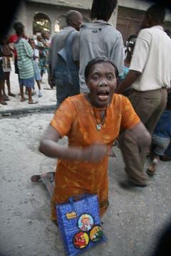 Dramático escenario en Haití, tras el sismo. Foto: AFP