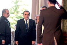 Camaño llega a la Casa Rosada después de asumir en el Congreso