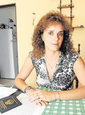 La profesora salteña Gilda Di Fonzo, una de las recientes deportadas